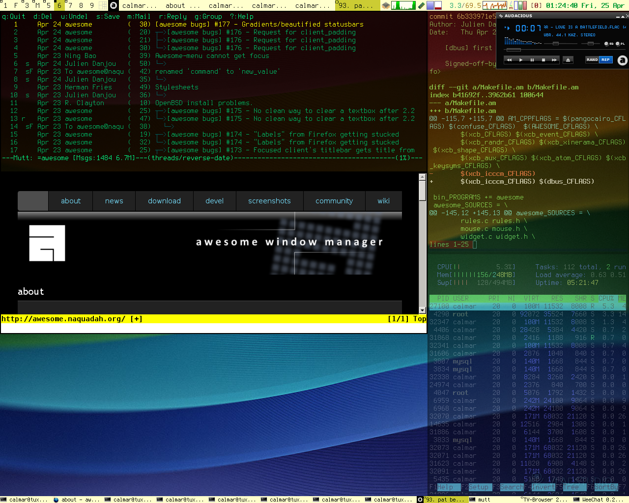 Awesome, the great tiling Window-Manager!